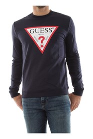 GUESS M01Q37 K6ZS0 AUDLEY SWEATER Men NAVY