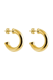 Earrings Plate Chunky Hoops S