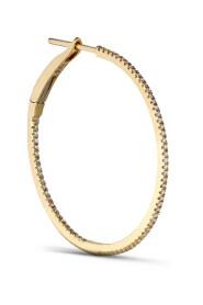 Medium diamond hoops, 18 carat gold