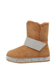 Teddy bear boot with simili strap