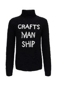 Turtleneck with Embossed Lettering