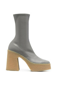 thick heel stretch boots