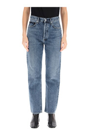 pinch waist high rise straight jeans