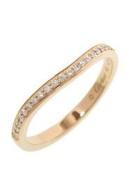 18K Half Diamond Ballerina Curve Ring Metal Rose Gold