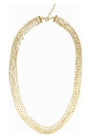 Gold Vermeil Multi Chain Necklace Choker