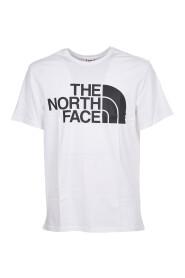 Enkel t-skjorte med logoutskrift