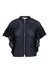 Zip Up Lace Top Topp