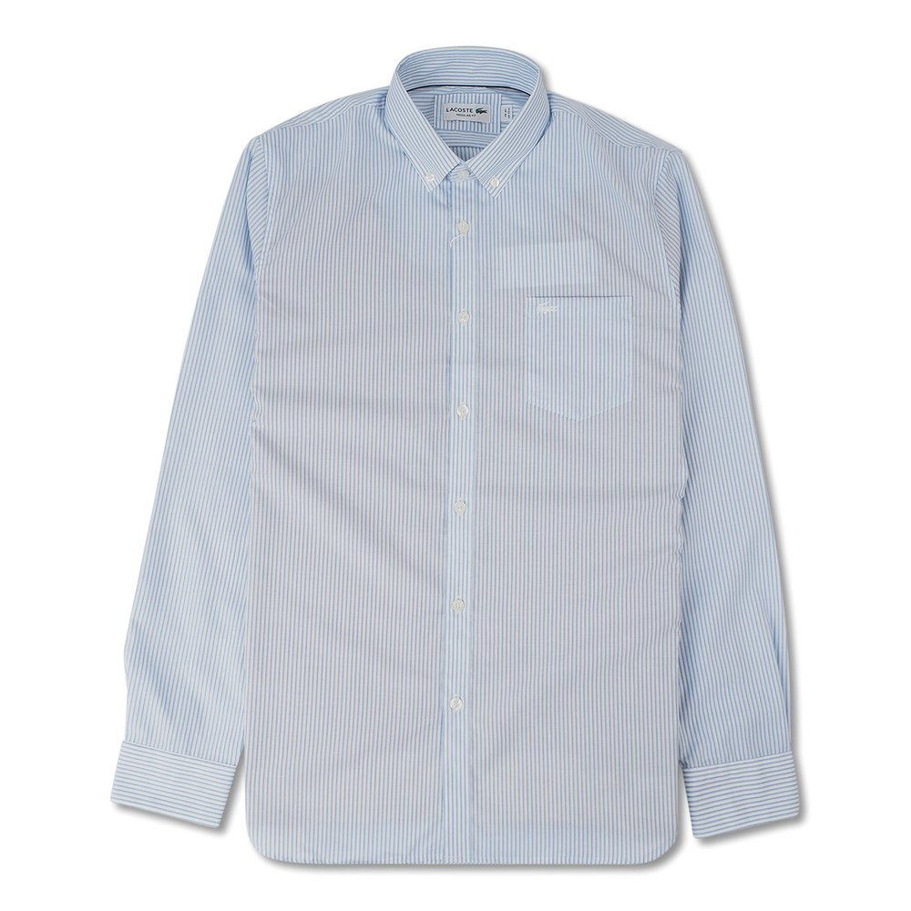 Men's Regular Fit Striped Poplin Shirt