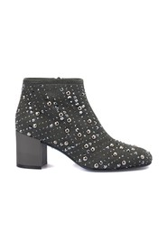 Suede studded ankle boot