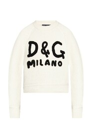Cashmere sweater with D&G embroidery