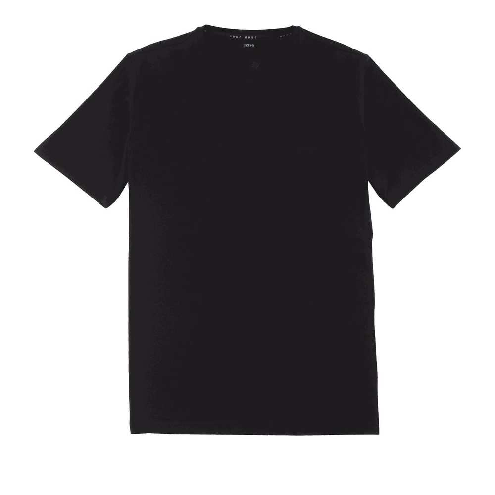 T-shirt i Stretch Cotton Blend Black
