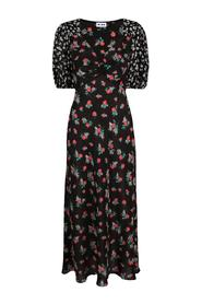 Long Floral Silk Dress