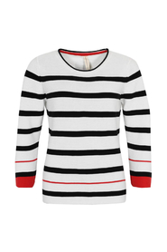 Striper O-Neck Classic Striped Jumper Genser D