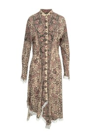 EMBELLISHED ASYMMETRIC SHIRT DRESS