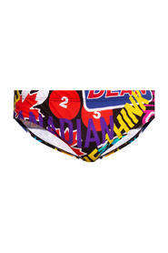 Swim briefs with logo