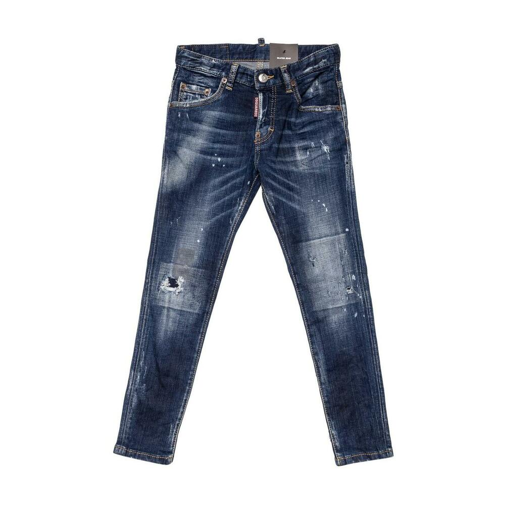Distressed Effect Skater Jeans