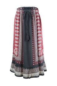 Maxi Skirt with Aztec Print
