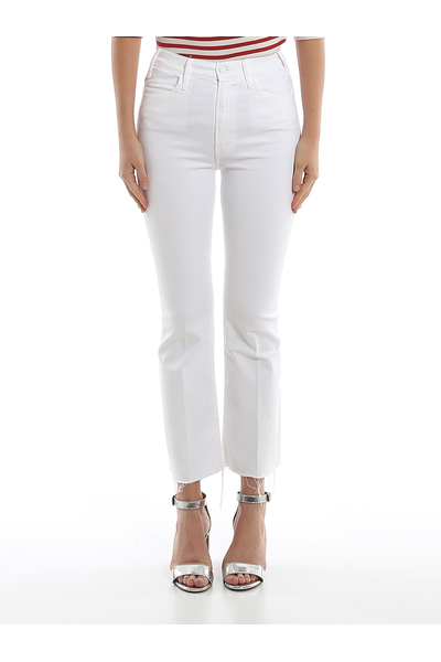 White Jeans Mother Jeans bootcut
