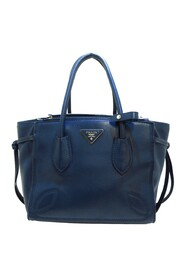 Pre-owned City Sport Twin Satchel Leather Calf
