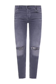 Cigarette distressed jeans