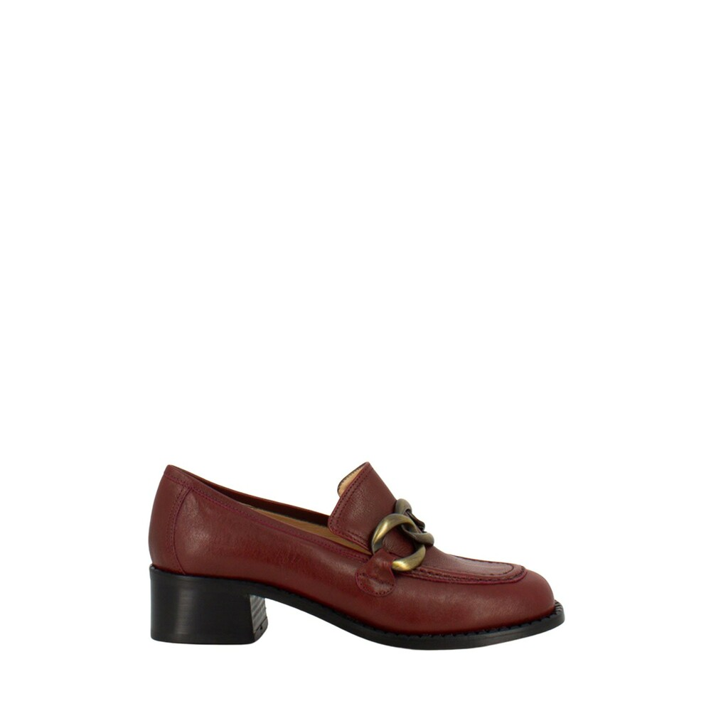 Stimm Red Loafers with front chain Stimm