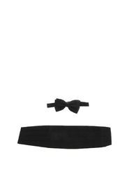 Ermenegildo  Cummerbund and bow tie kit seta Z6D66 0SA A