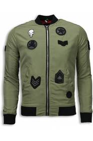 Bomber Jack Mens - Bomberjack Military Skull Patches