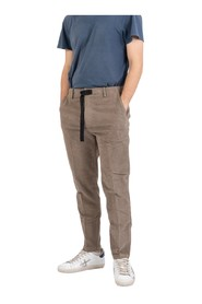 Corduroy trousers with strap