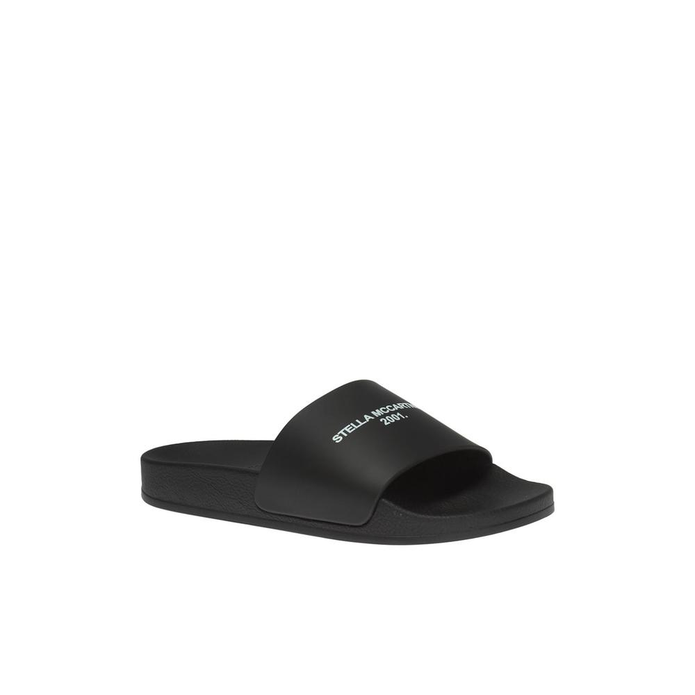 Stella McCartney BLACK Printed slides Stella McCartney