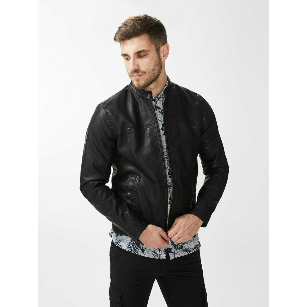 Leather jacket PU biker