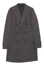 Double Breasted Prince Of Wales Coat