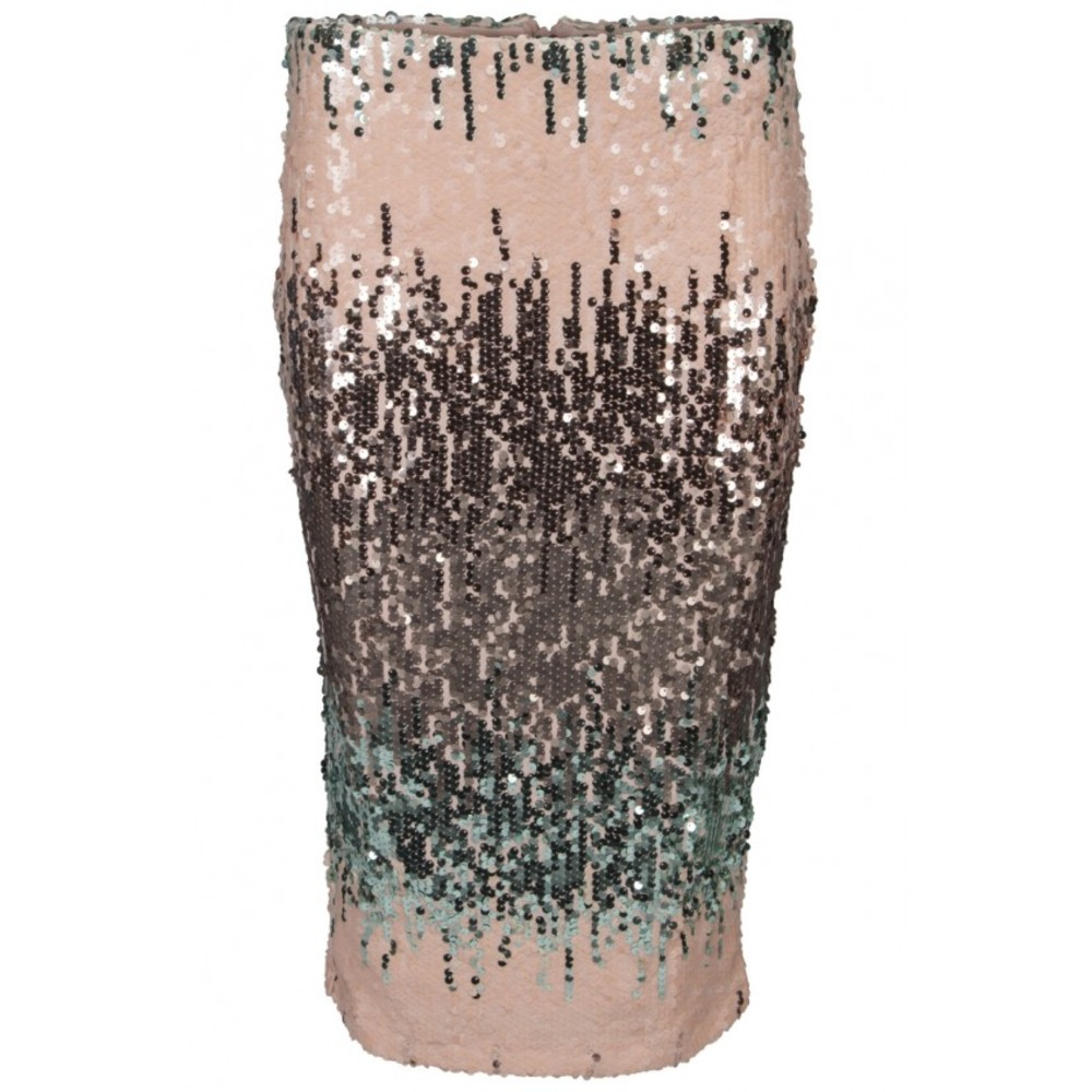 Lucy Wang sequin skirt rose