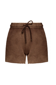 Shorts with worn effect