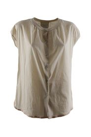 blusa donna a righe beige ss 21