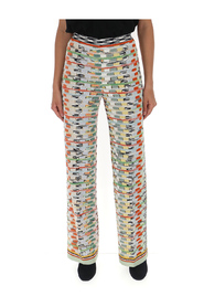 patterned knit trousers