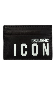 men's genuine leather credit card case holder wallet Icon