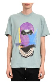 T-shirt whit mask painted on front and logo