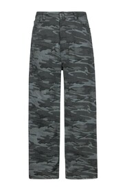 Wide Leg Camouflage Jeans