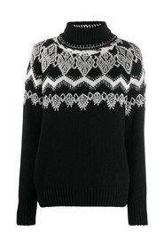 Embroidered round sweater