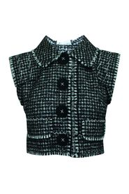 Wool Vest with Collar