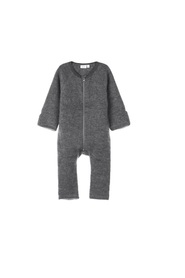 One-piece suit brushed wool