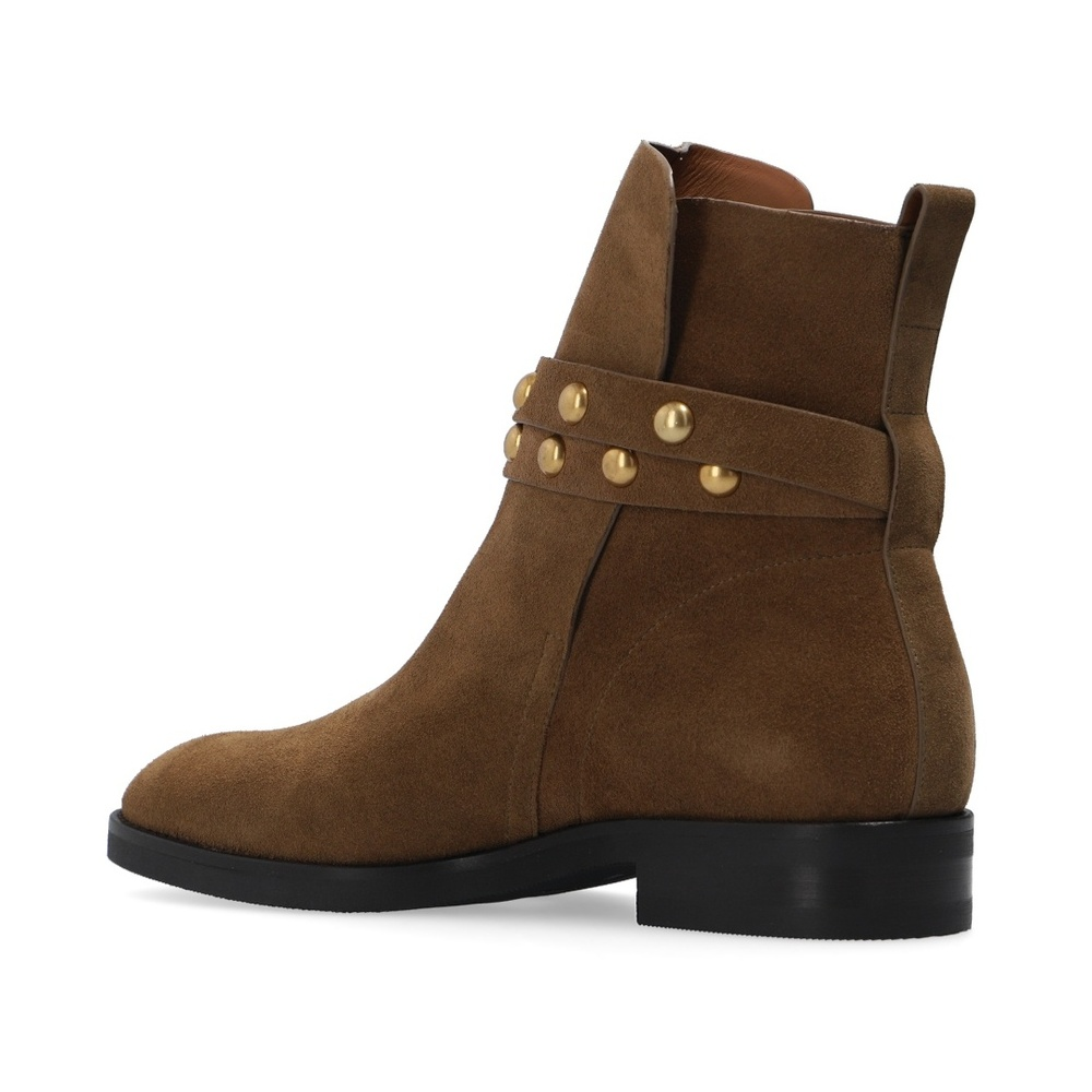 See by Chloé BROWN Janis heeled ankle boots See by Chloé