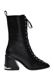 Laced Ankle Boots in Leather