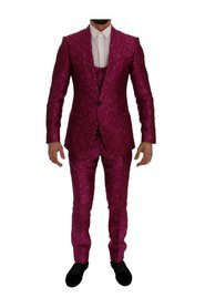 Jacquard 3 Piece Slim fit Suit