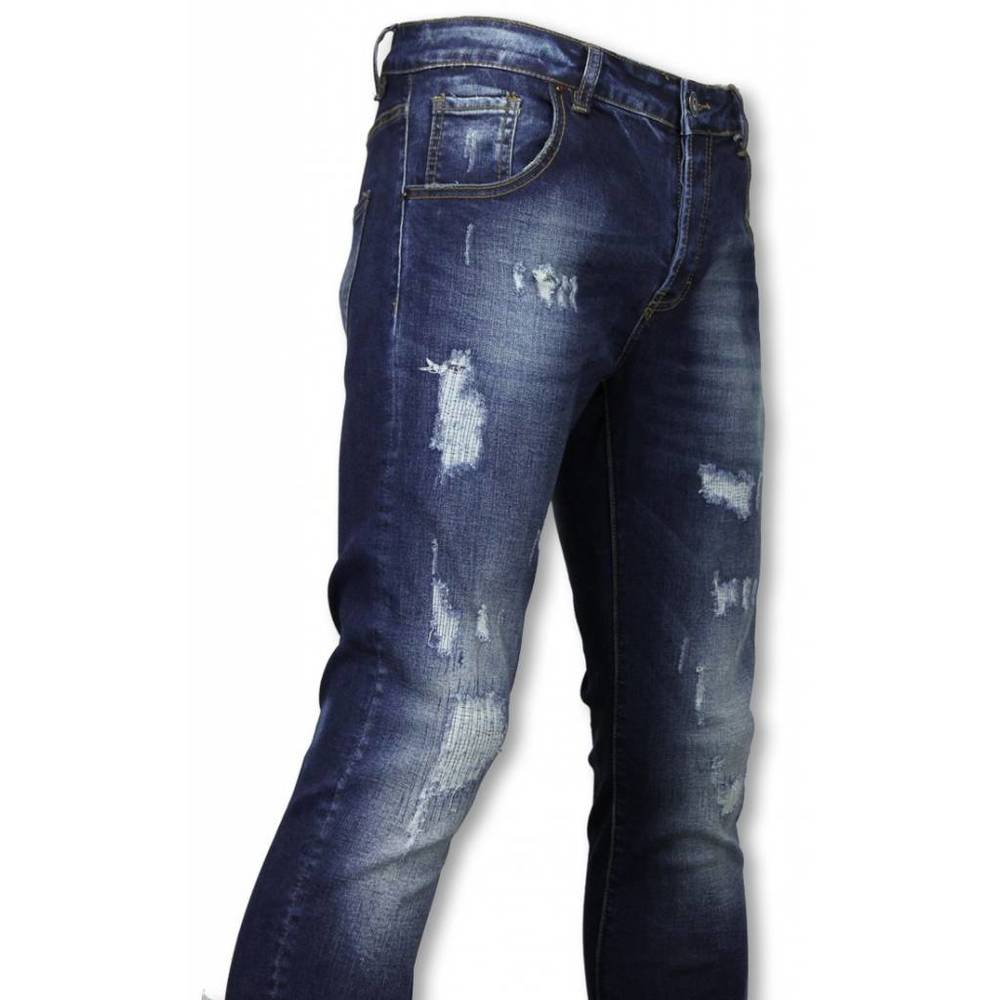 Basic Jeans - Skadad Allover Tapered Fit