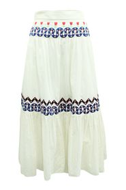 Midi  Skirt with Embroidery