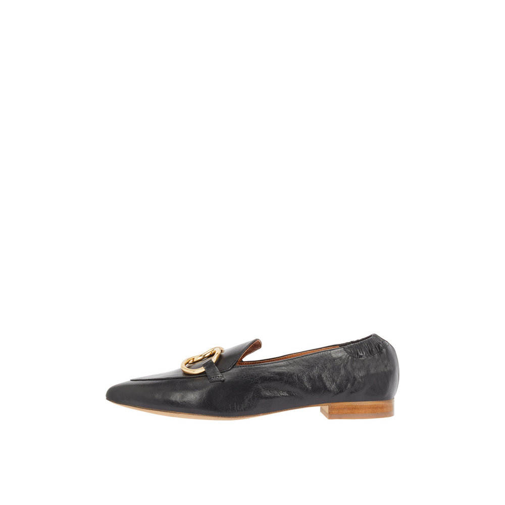 Loafers Rings detail leather