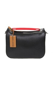 the soft box bag in perforated leather