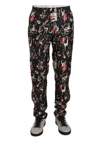 Musical Instrument Print Sleepwear Pants