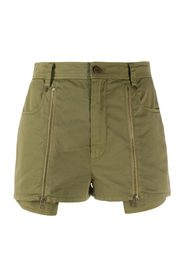 POPELINE SHORTS  WITH ZIPPERS